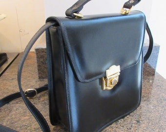 Vintage 1980's 'Clarks' Satchel Handbag MADE IN IRELAND With Long Strap Plus Short Handle - Lovely!!