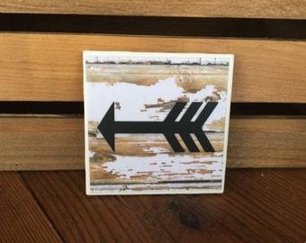 Shabby Rustic Arrow Coasters - Set of 4 Coasters