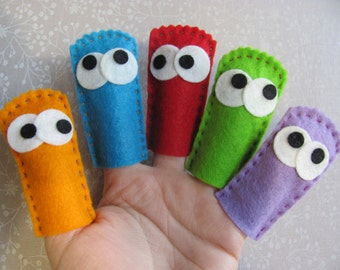 Felt Finger Puppets, Set of 5