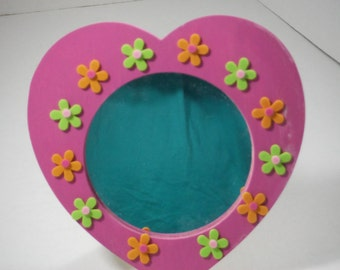 heart shaped mirror, mirror