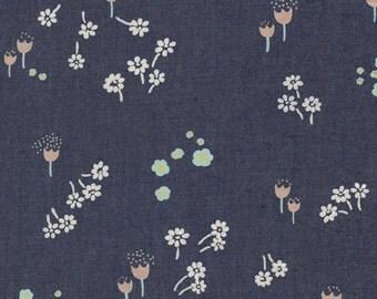 Art Gallery Fabrics Denim- Ditsy Abrasion lightweight floral