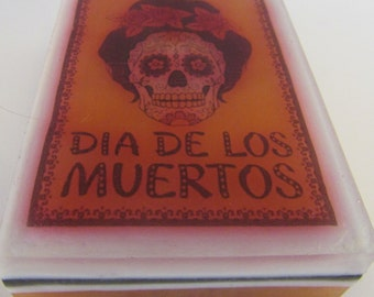 Day of the Dead, Dias de los Muertos, sugar skull, SOAP, skeleton, skull, face, goth, bones, Halloween, Vegan