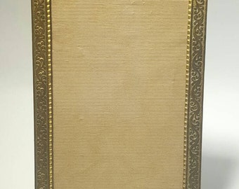 St. Louis Dry Goods Antique Brass Picture Frame with Original Glass