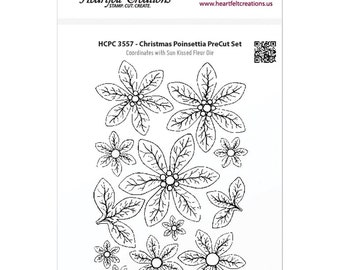Heartfelt Creations Cling Rubber Stamp Set ~ Christmas Poinsettia, HCPC3557 ~