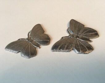 pair of 3d small metal butterflies