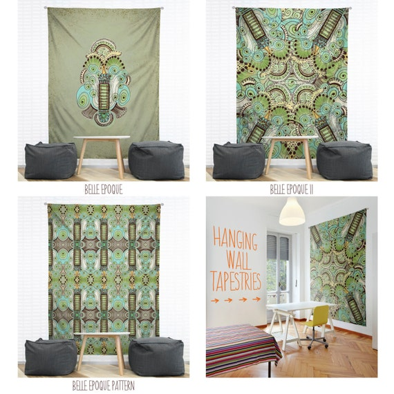 Wall Tapestry Home Decor : Belle epoque hanging wall tapestry home dorm decor
