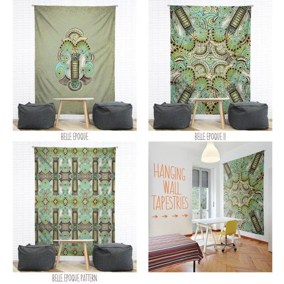 belle epoque hanging wall tapestry home dorm decor. Black Bedroom Furniture Sets. Home Design Ideas