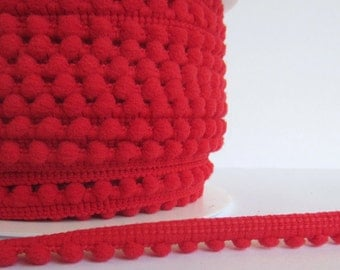 Red Pompom trims