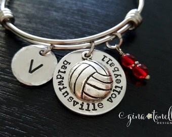 Volleyball Bracelet, Volleyball Jewelry, Volleyball Coach Bracelet, Volleyball Coach Gift, Volleyball Team Gift, Volleyball Senior Gifts,