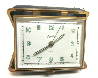 Vintage Bradely Travel Clock With Alarm -- Mid Century---Working!!!