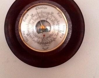 Circular Aneroid Wall Barometer.