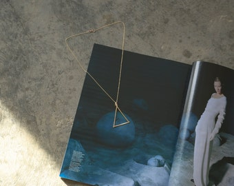 Equilateral Brass Necklace