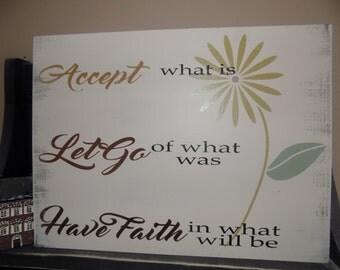 """12""""X15"""" accept..let go..have faith"""