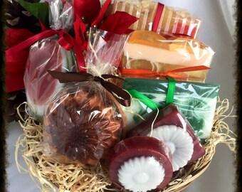 Soap Gift Basket - Holiday Gift Basket - Fall Theme Soap Gift Basket - Christmas Gift Basket - Autumn Gift Basket