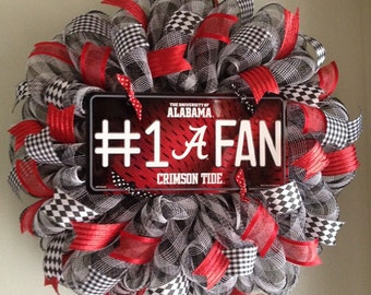Alabama Crimson Tide Mesh Wreath