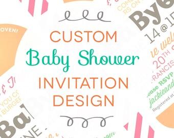 Custom Baby Shower Backyard BBQ Invitation