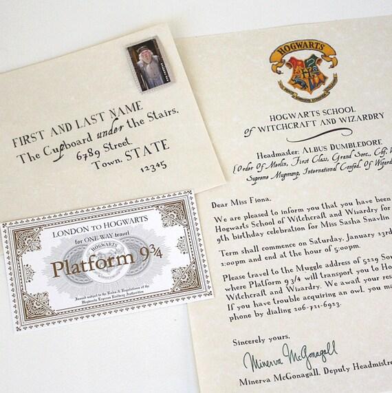 Custom INVITATION Hogwarts Wizarding School I Harry Potter