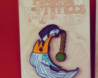 Ice King and Gunter Crescent Moon Adventure Tattoos Limited Edition Fan Art Enamel Lapel Pins