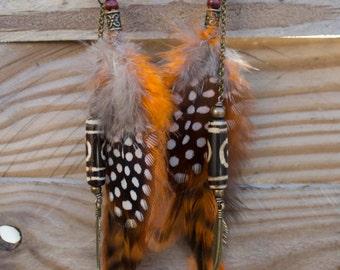 """Ethnic Earrings feathers """"Gauhar"""""""