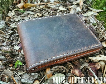 Handcrafted Leather Billfold Wallet / Crazy Horse