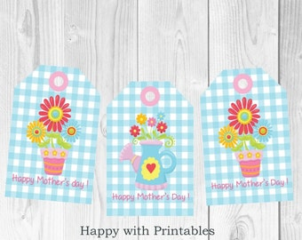 Mother's Day gift tag - Printable - Mother's Day - Instant Download - Favor Tag - Happy Mother's Day Tag - Flowers Mother's Day
