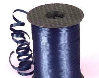 Navy ribbon 500 yards Navy blue crimped curling ribbon balloon gift wrap crafts tags Dark Blue Navy ribbon