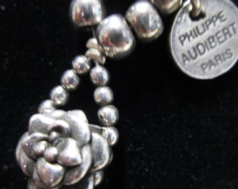 Philippe Audibert Paris necklace, vintage necklace, silver necklace