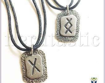 Rune Necklace, Norse Jewelry, Viking Mens Jewelry, Celtic Symbolism, Pagan Pendant, Elder Futhark, Asgard, Odin, Loki, Thor, Norse Mythology