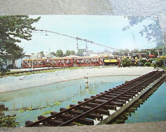 Vintage BUCKROE BEACH Hampton VA Virginia Playground Postcard - Roller Coaster