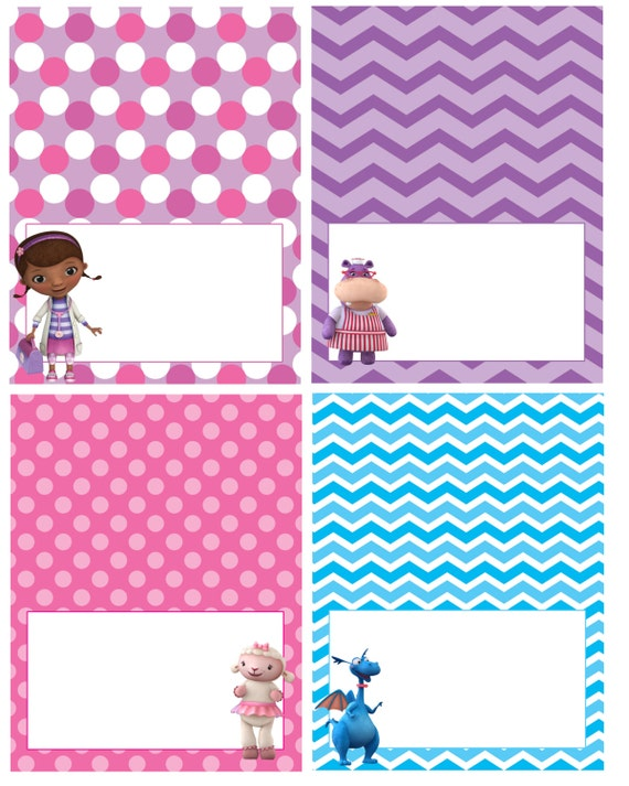 Crush image with regard to doc mcstuffins printable labels