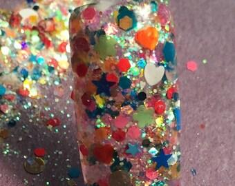 Nail Art Acrylic Gel Glitter mix  SUMMER BLAST  limited edition