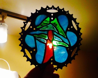"Recycled bike part art, tree 6"""