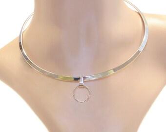Halsreif 'THABIT' Halskette Collar Necklace SM Gothic Ring der O. Kette Fetisch O-Ring BDSM Sklave Fetish Meister Sub Dom 70005
