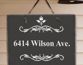 Personalized Outdoor Sign, Address Sign, Welcome Sign, Slate