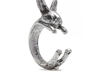 Rabbit Ring in Alloy