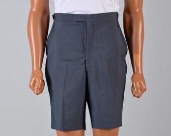 10% Off Mens Vintage 60s Blueish Gray Bermuda Board Shorts Casual Summer Vacation Mid Century Resort