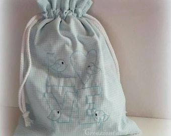 Blue checkered roof rack bag asylum or