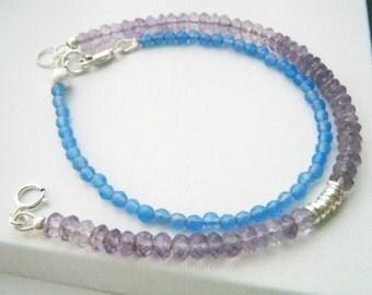 Pink amethyst bracelet Amethyst yoga jewelry February birthstone gemstone bracelet Chakra healing bracelet Karen Hill tribe birthday gift