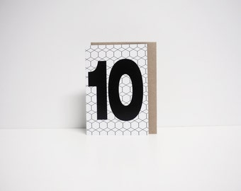 YS Number 10 card