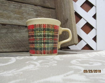 Vintage Taylor International USA Plaid Retro Coffee Mug Cup