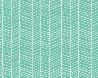 Mint Herringbone Fabric - By The Yard - Girl / Boy / Gender Neutral