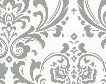 Gray Traditions Damask Fabric - By The Yard - Boy / Girl / Gender Neutral