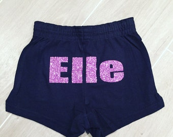 Personalized dance shorts, dance shorts, personalized gymnastics shorts, gymnastics shorts, cheer shorts, personalized shorts