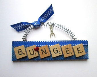 Bungee Jumping Scrabble Tile Ornament