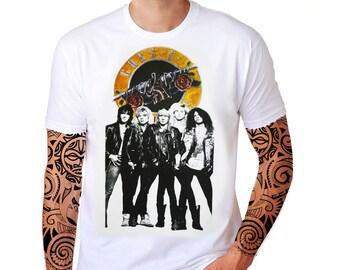 Guns N' Roses GNR Retro Vintage Retro Logo Axl Rose Slash Heavy Metal Hard Punk Rock Music Band Men Tee Top T-Shirt