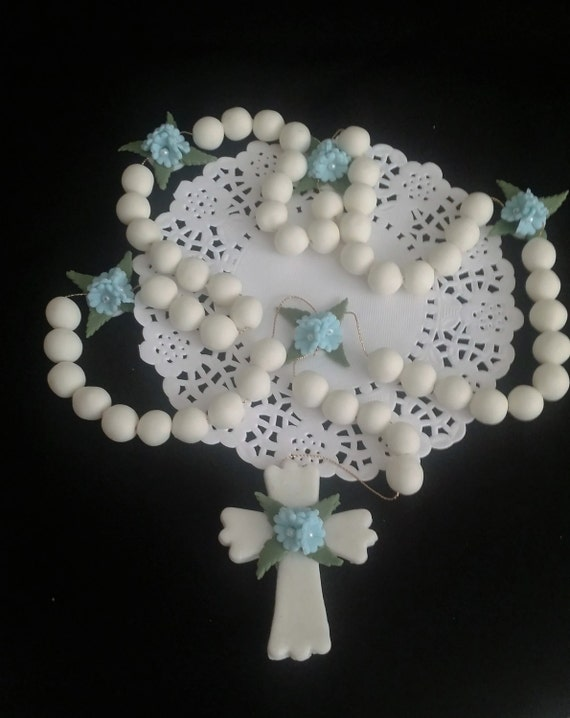 Cake Decoration Rosary Beads : First Communion Cake Topper Rosaries Favor Rosary Cake