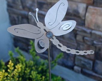 Medium Metal Dragonfly Yard Stake