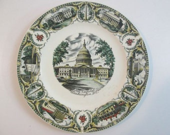 Metal Decorative Plate The Capitol Building Washington Dc
