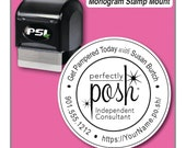 Perfectly Posh Stamp, Perfectly Posh Catalog Stamp, Perfectly Posh Consultant Stamp, 1-5/8 inch Stamp