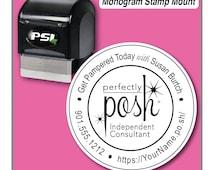 Perfectly Posh Stamp, Perfectly Posh Catalog Stamp, Perfectly Posh Consultant Stamp, 1-5/8 inch Stamp